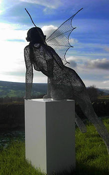 "Wire Sculpture "" Spirit into the Sun "" by Derek Kinzett Wire Sculptures"