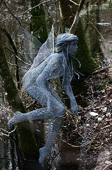 """Wire Sculpture ""Woodland Spirit"" by Derek Kinzett - Wire Sculptures"