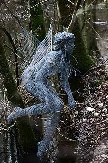 """""""Wire Sculpture """"Woodland Spirit"""" by Derek Kinzett - Wire Sculptures"""