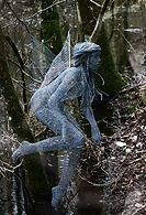 "Wire Sculpture ""Woodland Spirit"" by Derek Kinzett"