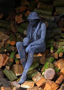"""Wire Sculpture """" Crystal"""" by Derek Kinzett Wire Sculptures"""