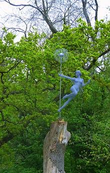 """""""Wire Sculpture """"The Fairys Wish"""" by Derek Kinzett wire sculptures"""