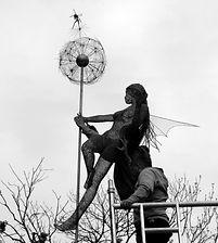 """Wire Sculpture """"The Fairy's Wish"""" by Derek Kinzett Wire Sculptures"""