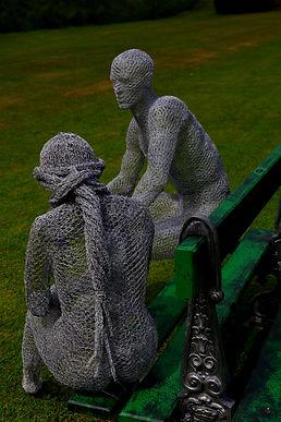 """Wire Sculpture """"The Moment"""" by Derek Kinzett Wire Sculptures"""
