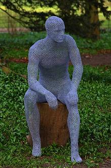 """Wire Sculpture """"The Green Man"""" by Derek Kinzett- Wire Sculptures"""