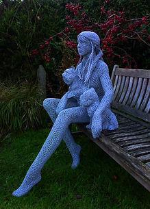 """Wire Sculpture """" The Gathering"""" by Derek Kinzett Wire Sculptures"""