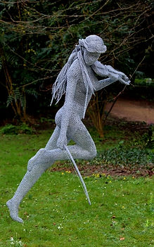"Wire Sculpture ""Free Spirit"" by Derek Kinzett - Wire Sculptures"