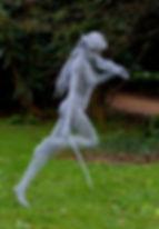 """Wire Sculpture """"Free Spirit"""" by Derek Kinzett Wire Sculptures"""