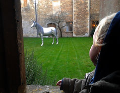 "Wire Sculpture ""The Last Unicorn"" by Derek Kinzett - Lacock Exhibition"