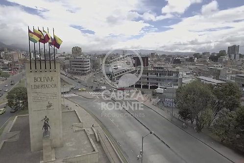 DR122 DRONE BOGOTA, MONUMENTO HEROES