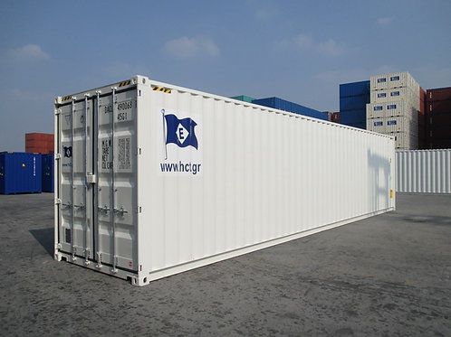 Container 40'ft High Cube New White