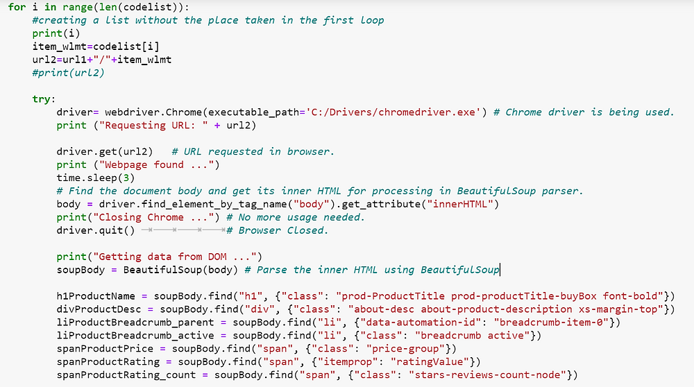 How to Scrape Product Information from Walmart using Python beautifulsoup