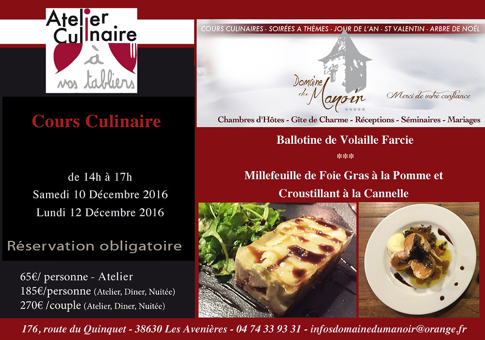 Cours culinaire