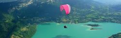 Parapente sur le lac d'Aiguebelette