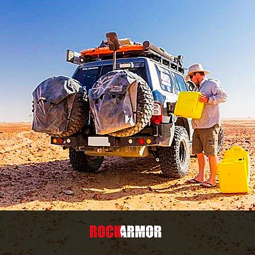 Rock Armor Dual Spare Wheel Carrier - Nissan Patrol GU