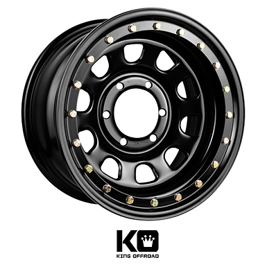 King Wheels  - D-Locker Steel (Imitation Bead Lock)