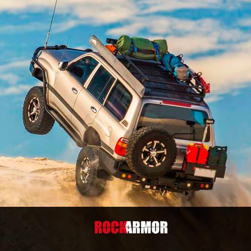 Rock Armor Dual Spare Wheel Carrier Toyota Land Cruiser