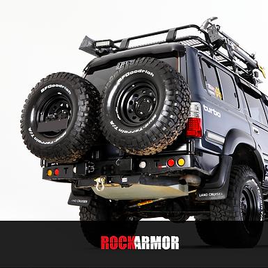 Rock Armor Dual Spare Wheel Carrier - Toyota Land Cruiser 80 Series