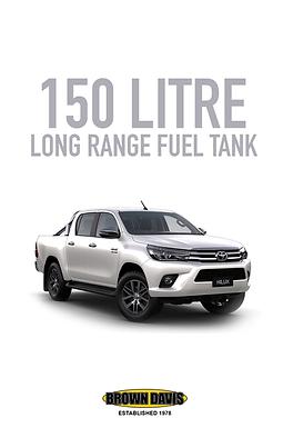Brown Davis Long Range Fuel Tank - Toyota Hilux (2015 - Present)