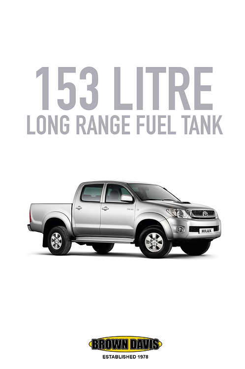 Brown Davis Long Range Fuel Tank - Toyota Hilux (2005 - 2015)