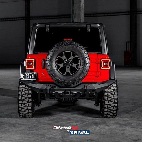 Drivetech 4x4 Rear Bumper by Rival - Jeep Wrangler JL (2018+)