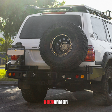 Rock Armor Dual Spare Wheel Carrier - Toyota Land Cruiser 100/105 Series