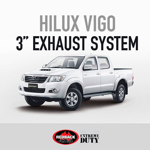 "RedBack Extreme Duty 3"" Exhaust System - Toyota Hilux 3.0L (2005 - 2015)"