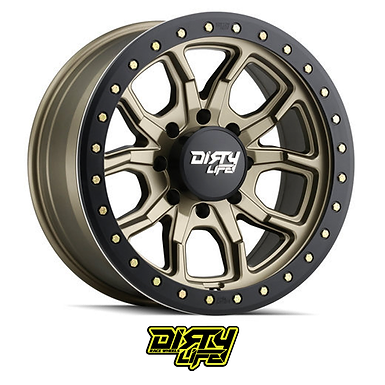 Dirty Life Wheels  - 9303 DT-1 Simulated Beadlock Ring (Satin Gold)