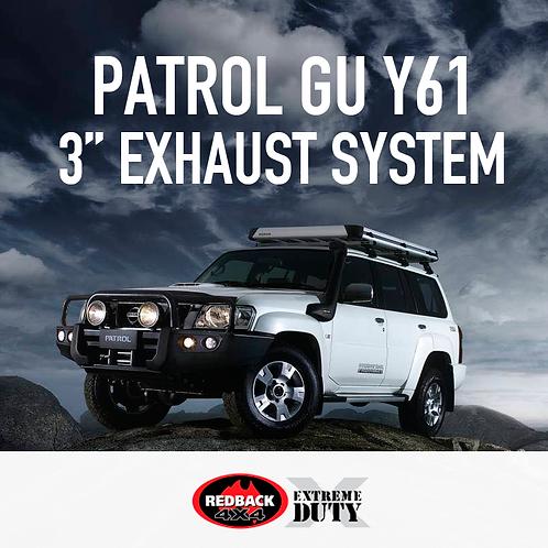 """RedBack Extreme Duty 3"""" Exhaust System - Nissan Patrol GU Y61 3.0L"""