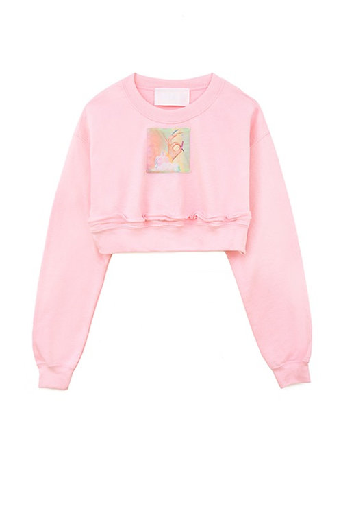 W.I.A COLLECTIONS CLOUD CROP SWEATER