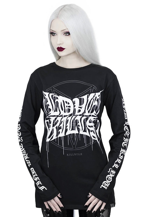 KILLSTAR LOVE KILLS LONG SLEEVE TOP