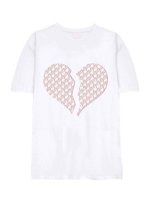 W.I.A BROKE HEART ORGANIC COTTON OVERSIZE T-SHIRT