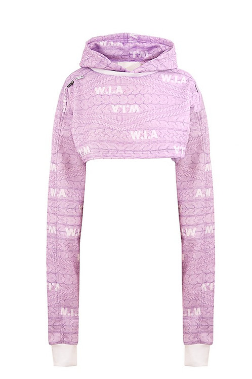 W.I.A COLLECTIONS FAKE CROP HOODIE