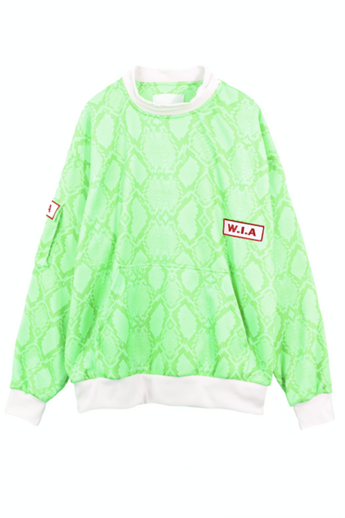 W.I.A COLLECTIONS SERPE GREEN SWEATER