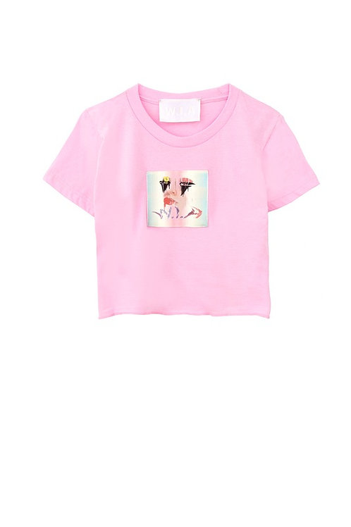 W.I.A COLLECTIONS DOLL CROP T-SHIRT