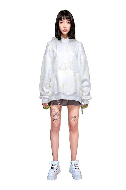 W.I.A COLLECTIONS CLEAR OVERSIZE HOODIE