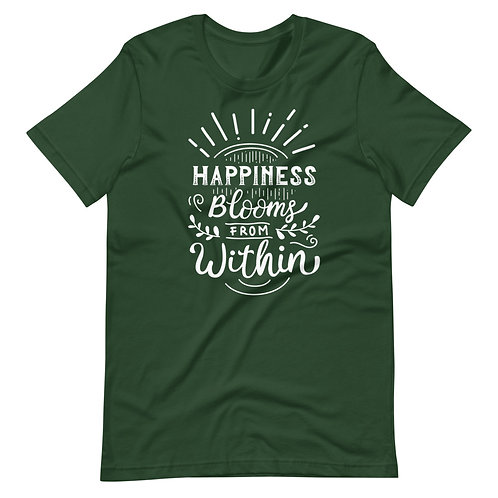 Happiness Blooms from Within Short-Sleeve Unisex T-Shirt