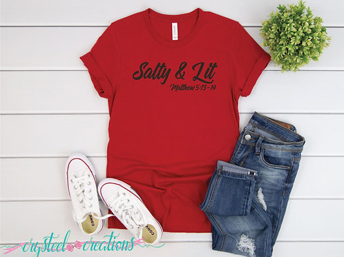 Salty and Lit Short-Sleeve Unisex T-Shirt