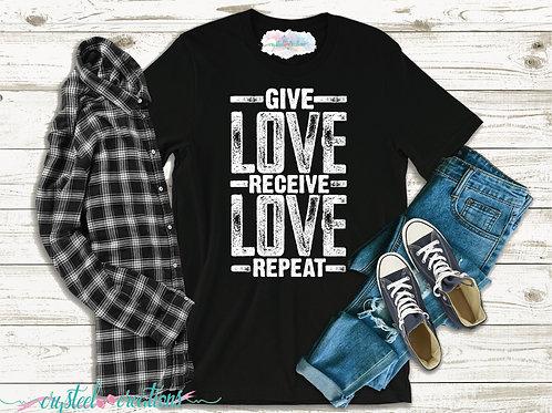 Give Love Short-Sleeve Unisex T-Shirt