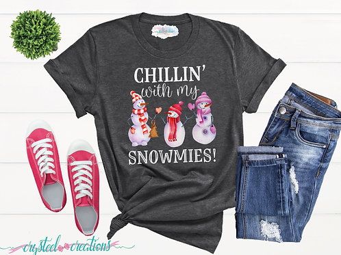 Chillin' with my Snowmies Short-Sleeve Unisex T-Shirt
