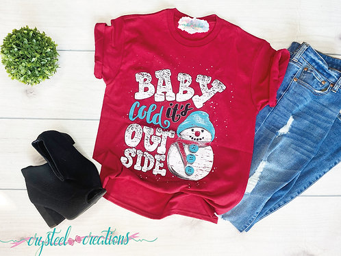 Baby It's Cold Outside Snowman Christmas Shirt