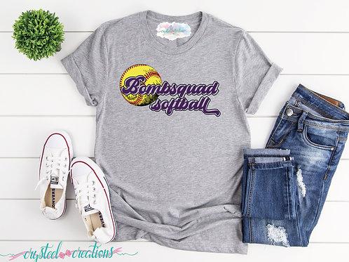 Bombsquad Softball Short-Sleeve Unisex T-Shirt