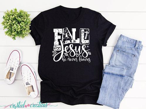 Fall for Jesus He Never Leaves Short-Sleeve Unisex T-Shirt