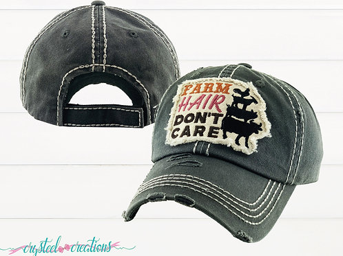 Farm Hair Don't Care Hat