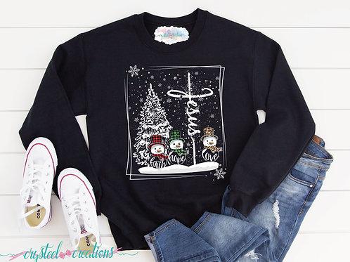 Jesus Snowmen Unisex Sweatshirt