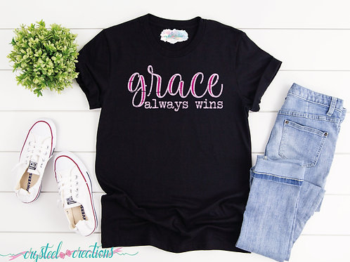 Grace Always Wins Short-Sleeve Unisex T-Shirt