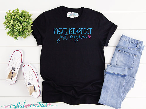 Not Perfect Just Forgiven Short-Sleeve Unisex T-Shirt