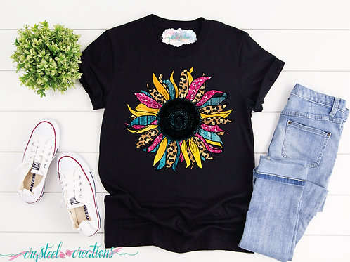 Multi-Color Sunflower Short-Sleeve Unisex T-Shirt