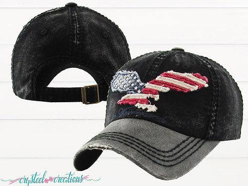 Americana Eagle Distressed Vintage Hat