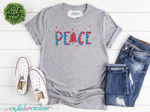 Peace Christmas Short-Sleeve Unisex T-Shirt
